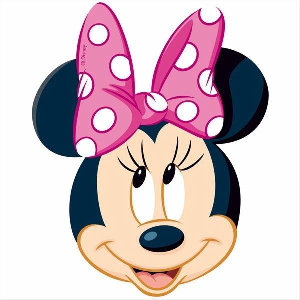 Silueta Minnie Mouse en papel de arroz