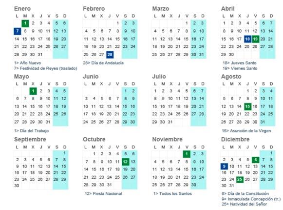 Festivos 2019 Andalucia