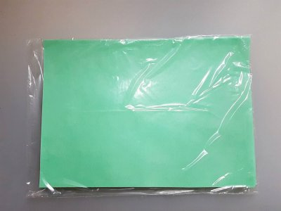 Papel comestible de Oblea con Brillo A4 - 0,3 mm color verde - 25 hojas